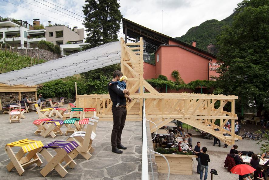 Teatro del Mare / ConstructLab/EXYZT / GastHaus / Lungomare / Bolzano / IT