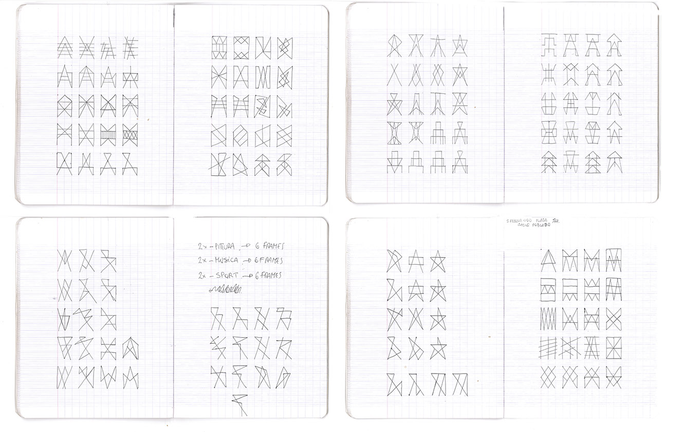 Selection of a few ideograms pages that i have been made.